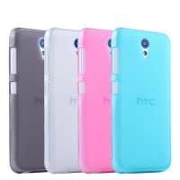 Силиконовый матовый полупрозрачный чехол для HTC Desire 620