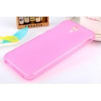 Силиконовый матовый полупрозрачный чехол для HTC Desire 620  Розовый