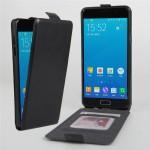 Чехол вертикальная книжка на силиконовой основе с отсеком для карт на магнитной защелке для Samsung Galaxy A5