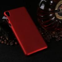 Пластиковый непрозрачный матовый чехол для Sony Xperia E5  Красный