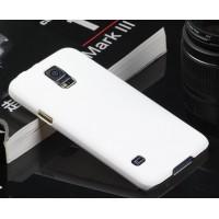 Пластиковый непрозрачный матовый чехол для Samsung Galaxy S5 (Duos) Белый