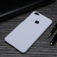 Пластиковый непрозрачный матовый чехол для Huawei P9 Lite Белый
