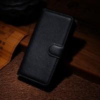 Чехол портмоне подставка на пластиковой основе на магнитной защелке для Nokia Lumia 630/635 Черный
