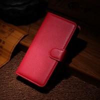 Чехол портмоне подставка на пластиковой основе на магнитной защелке для Nokia Lumia 630/635 Красный
