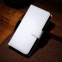 Чехол портмоне подставка на пластиковой основе на магнитной защелке для Nokia Lumia 630/635 Белый