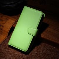 Чехол портмоне подставка на пластиковой основе на магнитной защелке для Nokia Lumia 630/635 Зеленый