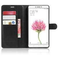 Чехол портмоне подставка на силиконовой основе на магнитной защелке для Xiaomi Mi Max Черный