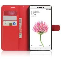 Чехол портмоне подставка на силиконовой основе на магнитной защелке для Xiaomi Mi Max Красный
