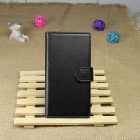 Чехол портмоне подставка на пластиковой основе на магнитной защелке для Sony Xperia Z1 Черный