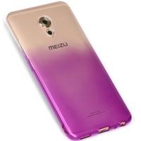 Силиконовый глянцевый полупрозрачный градиентный чехол для Meizu Pro 6 Plus