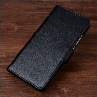 Кожаный чехол портмоне подставка (премиум нат. кожа) с магнитной застежкой для Meizu Pro 6 Plus