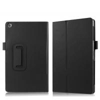 Чехол книжка подставка с рамочной защитой экрана и крепежом для стилуса для ASUS ZenPad 3S 10/10 LTE Черный