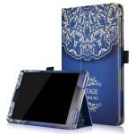 Чехол книжка подставка с рамочной защитой экрана, крепежом для стилуса и полноповерхностным принтом для ASUS ZenPad 3S 10
