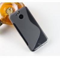 Силиконовый матовый полупрозрачный чехол с нескользящими гранями и дизайнерской текстурой S для HTC 10 evo  Черный