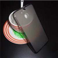 Силиконовый матовый полупрозрачный чехол для HTC 10 evo  Черный