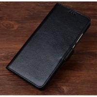 Кожаный чехол портмоне подставка (премиум нат. кожа) с крепежной застежкой для HTC 10 evo