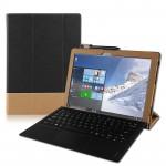 Винтажный сегментарный чехол книжка подставка с рамочной защитой экрана, крепежом для стилуса и поддержкой кисти для Lenovo IdeaPad MIIX 310