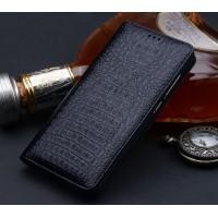 Кожаный чехол горизонтальная книжка (премиум нат. кожа крокодила) для Xiaomi Mi Mix