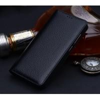Кожаный чехол горизонтальная книжка (премиум нат. кожа) для Xiaomi Mi Mix