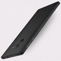 Силиконовый матовый непрозрачный чехол с нескользящим софт-тач покрытием для Xiaomi Mi Mix  Черный
