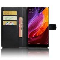 Чехол портмоне подставка на силиконовой основе с отсеком для карт на магнитной защелке для Xiaomi Mi Mix  Черный