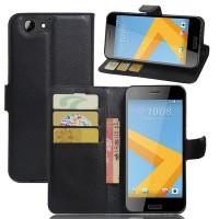Чехол портмоне подставка на силиконовой основе с отсеком для карт на магнитной защелке для HTC One A9S