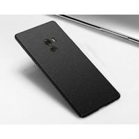 Пластиковый непрозрачный матовый чехол с улучшенной защитой элементов корпуса и повышенной шероховатостью для Xiaomi Mi Mix Черный