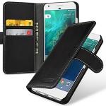 Кожаный чехол портмоне (премиум нат. кожа) с крепежной застежкой для Google Pixel XL