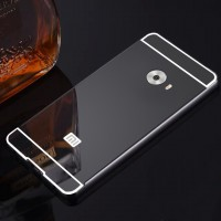 Двухкомпонентный чехол c металлическим бампером с поликарбонатной накладкой и зеркальным покрытием для Xiaomi Mi Note 2