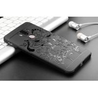 Силиконовый матовый непрозрачный чехол с текстурным покрытием Дракон для Huawei Mate 9