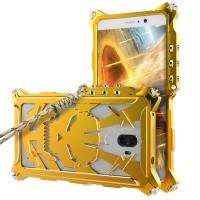 Цельнометаллический противоударный чехол из авиационного алюминия на винтах с мягкой внутренней защитной прослойкой для гаджета с прямым доступом к разъемам для Huawei Mate 9