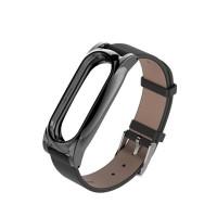 Антискользящий гиппоаллергенный кожаный браслет с магнитной замков для Xiaomi Mi Band 2