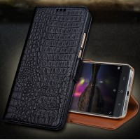 Кожаный чехол портмоне подставка (премиум нат. кожа крокодила) с крепежной застежкой для Lenovo Phab 2 Plus