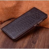 Кожаный чехол горизонтальная книжка (премиум нат. кожа крокодила) для Huawei Mate 9 Pro