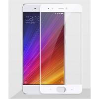Полноэкранное ультратонкое износоустойчивое сколостойкое олеофобное защитное стекло-пленка для Xiaomi Mi5S  Белый