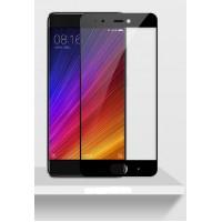 Полноэкранное ультратонкое износоустойчивое сколостойкое олеофобное защитное стекло-пленка для Xiaomi Mi5S  Черный