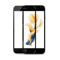 Полноэкранное ультратонкое износоустойчивое сколостойкое олеофобное защитное стекло-пленка для Iphone 6/6s  Черный