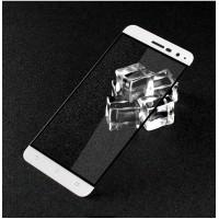 Полноэкранное ультратонкое износоустойчивое сколостойкое олеофобное защитное стекло-пленка для Asus ZenFone 3 5.2  Белый