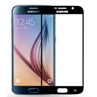 Полноэкранное ультратонкое износоустойчивое сколостойкое олеофобное защитное стекло-пленка для Samsung Galaxy S6 Черный