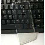 Силиконовый глянцевый транспарентный чехол для ZTE Axon 7 mini
