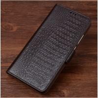Кожаный чехол портмоне подставка (премиум нат. кожа крокодила) с крепежной застежкой для ZTE Nubia Z11 Max