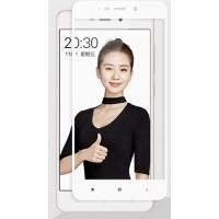 Полноэкранное ультратонкое износоустойчивое сколостойкое олеофобное защитное стекло-пленка для Xiaomi RedMi 4A  Белый