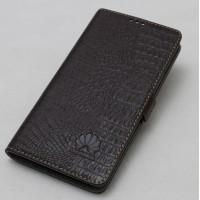 Кожаный чехол горизонтальная книжка подставка текстура Крокодил с крепежной застежкой для Huawei Honor Note 8