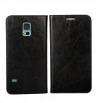 Винтажный чехол портмоне подставка на пластиковой основе с отсеком для карт для Samsung Galaxy S5 (Duos)