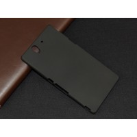 Пластиковый непрозрачный матовый чехол для Sony Xperia Z