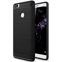 Силиконовый матовый непрозрачный чехол с нескользящими гранями и текстурным покрытием Металлик для Huawei Honor Note 8
