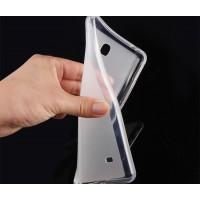 Силиконовый матовый полупрозрачный чехол для Samsung Galaxy Tab Pro 8.4  Белый