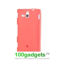 Чехол силиконовый для Sony Xperia U Красный