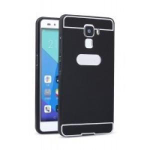 Двухкомпонентный чехол с металлическим бампером и поликарбонатной накладкой для Huawei Honor 7 Черный