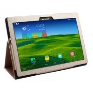 Чехол подставка с рамочной защитой текстура Золото для Lenovo Tab 2 A10-70/Tab 3 10 Business Бежевый